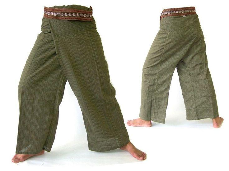 Thai fishermans pants, wrap pants, hippie trouser from Siamrose Art & Decor by DaWanda.com