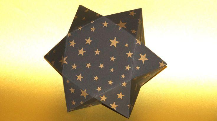 Sterne basteln... eine Stern - Geschenkbox falten... How to make a Star ...