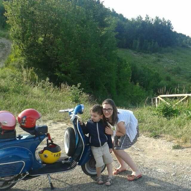 In montagna con la vespa .......