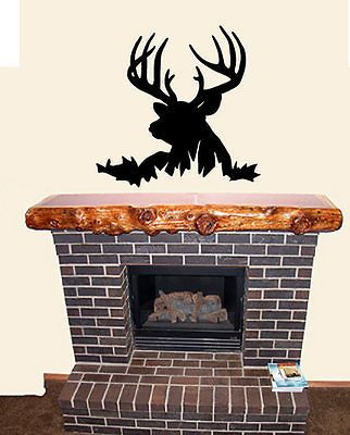 Deer Head Silhouette Buck Hunting Wall Decal Decor Part 81