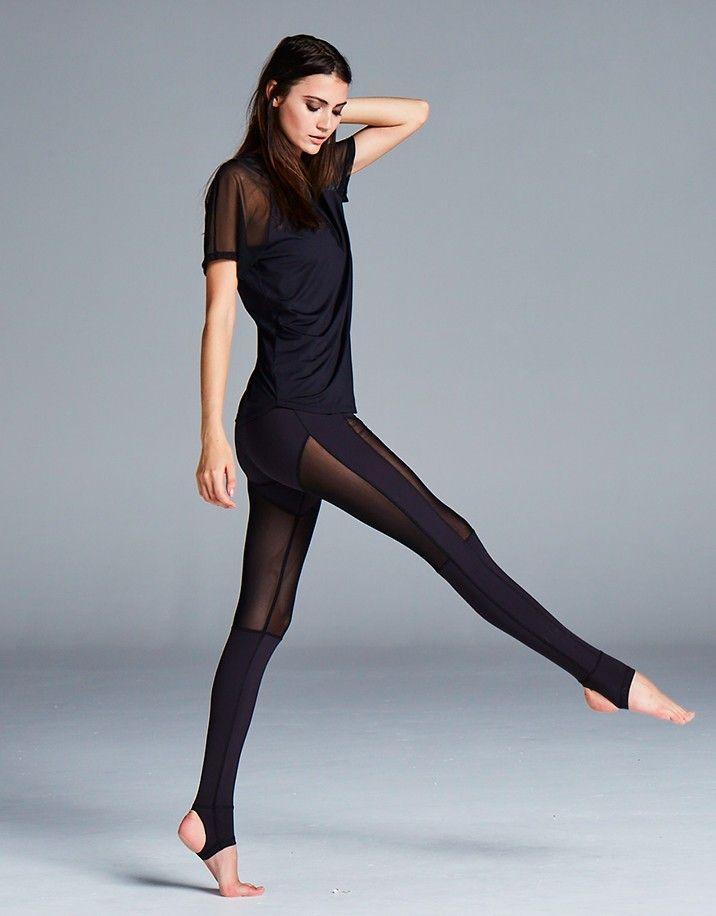 Hillcrest Black Stirrup Legging