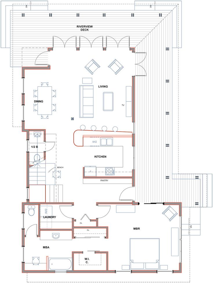 17 best images about floor plans 2 on pinterest dogs Dogtrot house plan
