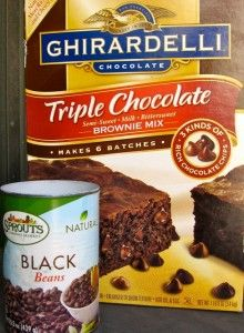 Ghirardelli Brownie Mix & Black Beans... wonder if I could fool the boys with this... :)