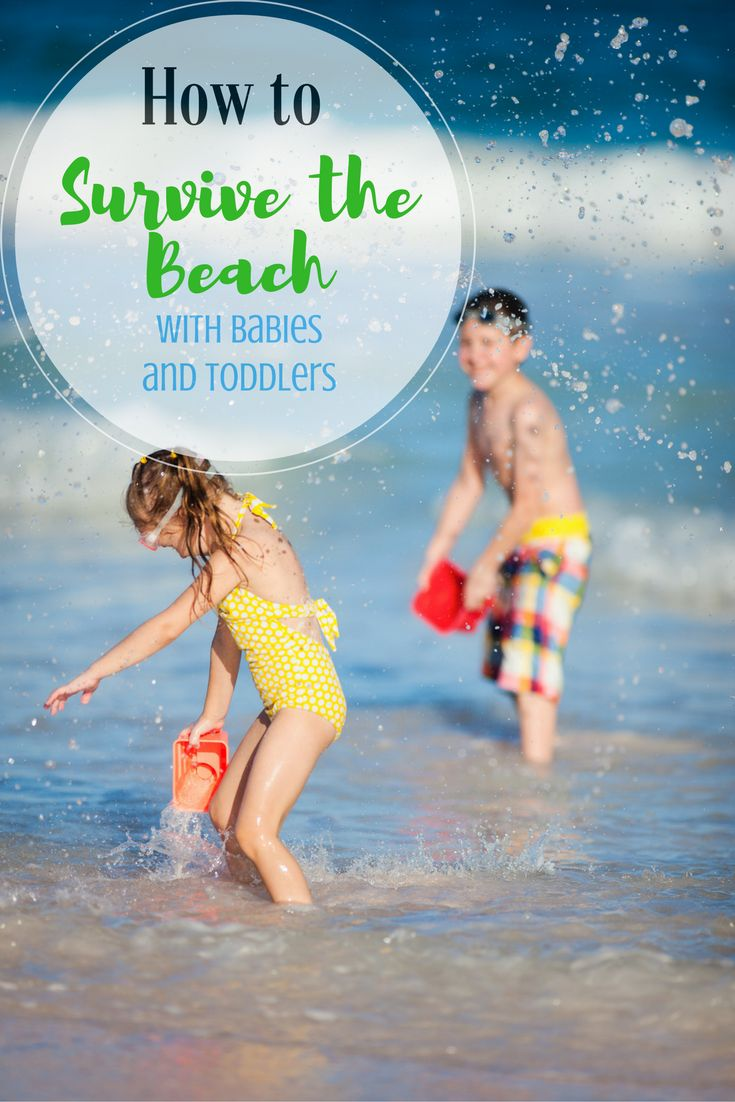 How to Survive the Beach with Babies and Toddlers | Ring Sling | Beachfront Baby | beach vacation