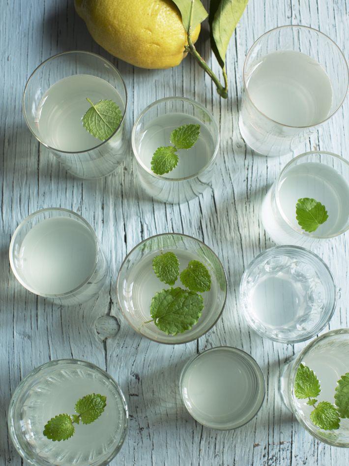 Citronmelissaft. Perfekt för citronmeliss som behöver klippas ner för att få nya fräscha blad!  1 liter citronmelissblad (ca 10 kvistar); 1 citron, finskivad eller ca ½ dl pressad juice; 4 dl vatten; ½–1 dl ljus honung eller 2 dl strösocker. Rör i citronmeliss och citron i kokande vatten. Låt stå ett dygn i rumstemperatur. Söta efter smak. Ur Safthushållning. Foto Ulrika Ekblom #safthushållning #saft #sockerfri