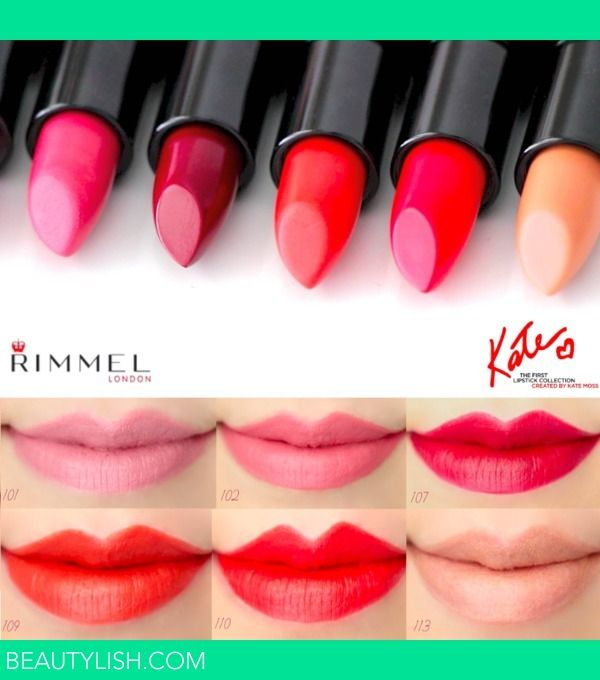 Rimmel London Kate Moss Lipstick turn stain Swatches 107 I personally own and I love the
