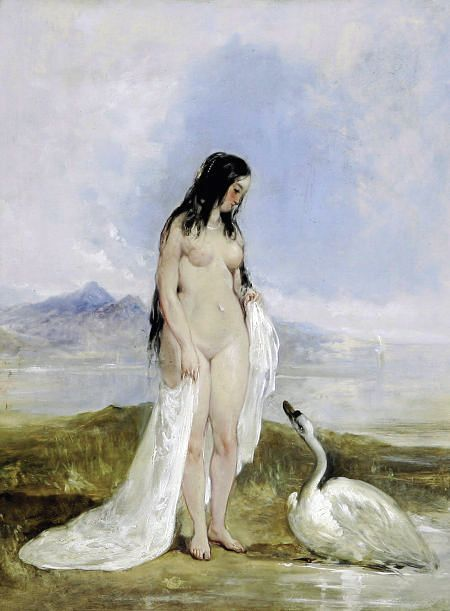 * William Etty - - - Leda and the Swan: