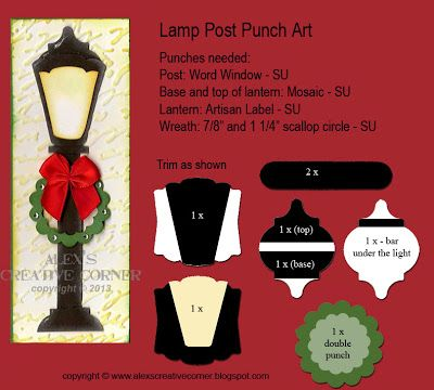 Alex's Creative Corner: Christmas Lamp Post Card