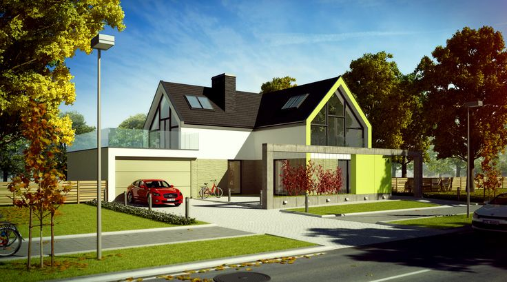 ARCHITECTURE&URBAN PLANNING-Maple Avenue Houses,Powalki,Poland | Andrzej Ludew | Archinect