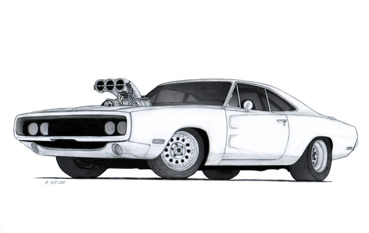dodge charger drawings 1970 Dodge
