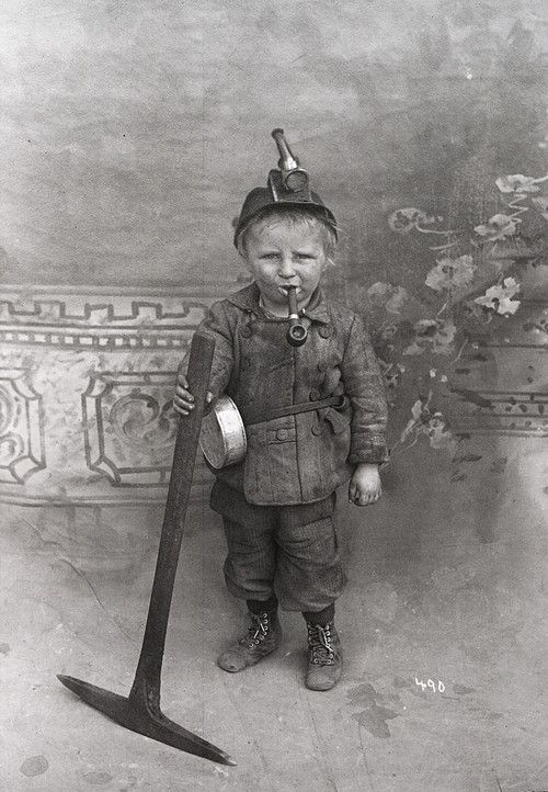 Coal miner, USA, early 1900's.