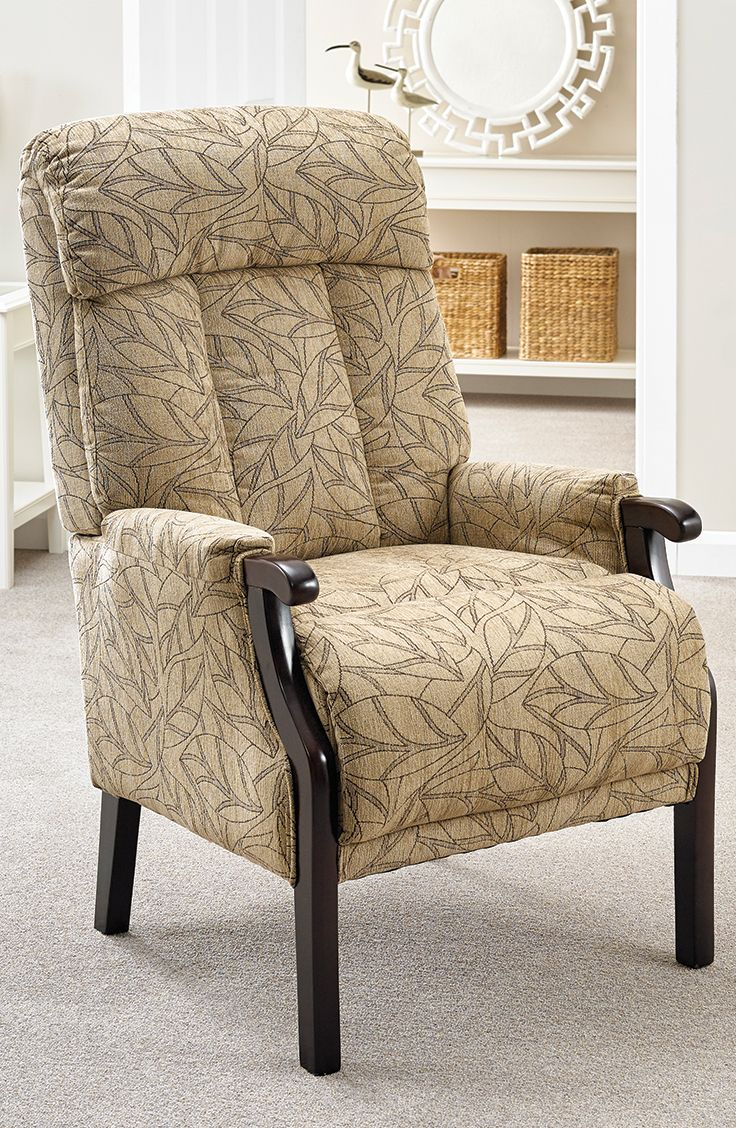 With a stylish patterned fabric the Aster Fireside Chair will look good in any setting.