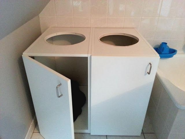 Laundry organizer from kitchen cabinets   IKEA Hackers Clever ideas and hacks for your IKEA