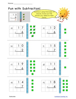 17 Best images about Subtraction on Pinterest | Grade 1 math ...