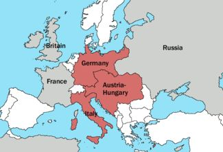 Germany, Austria, Italy form a triple alliance - 1882, influencing WWI alliances in 1914