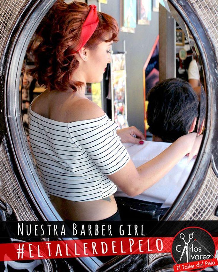 ¡Les presentamos a nuestra chica barber! <3  Pronto una galería de nuestra artista al mejor estilo Pin-up.  Visítanos en nuestra página oficial:http://eltallerdelpelo.com/  #eltallerdelpelo #lasmejorespeluqueríasdeBogotá #PeluqueríaModerna #PeluqueríaArtistica #colors #redhair #barbergirl #barba