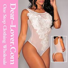 White Floral Embroidered Mesh Open Big Ass Bodysuit China Lingerie Manufacturers Best Buy follow this link http://shopingayo.space