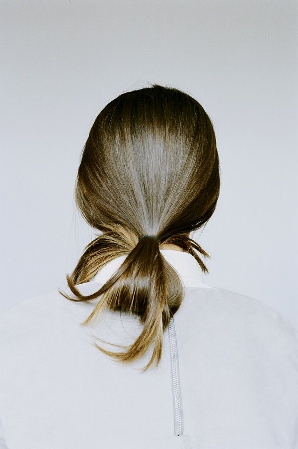 folded ponytail