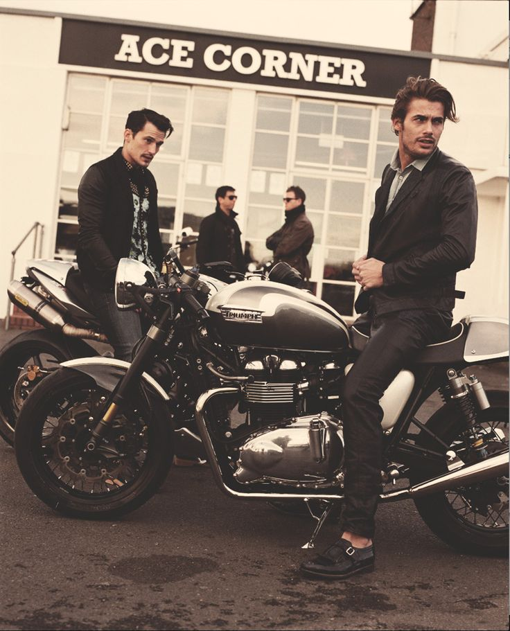 you can look good while riding your motorcycle guys