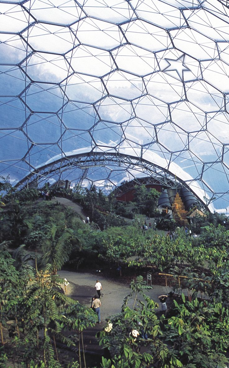 The Eden Project, England. Largest greenhouse on earth.