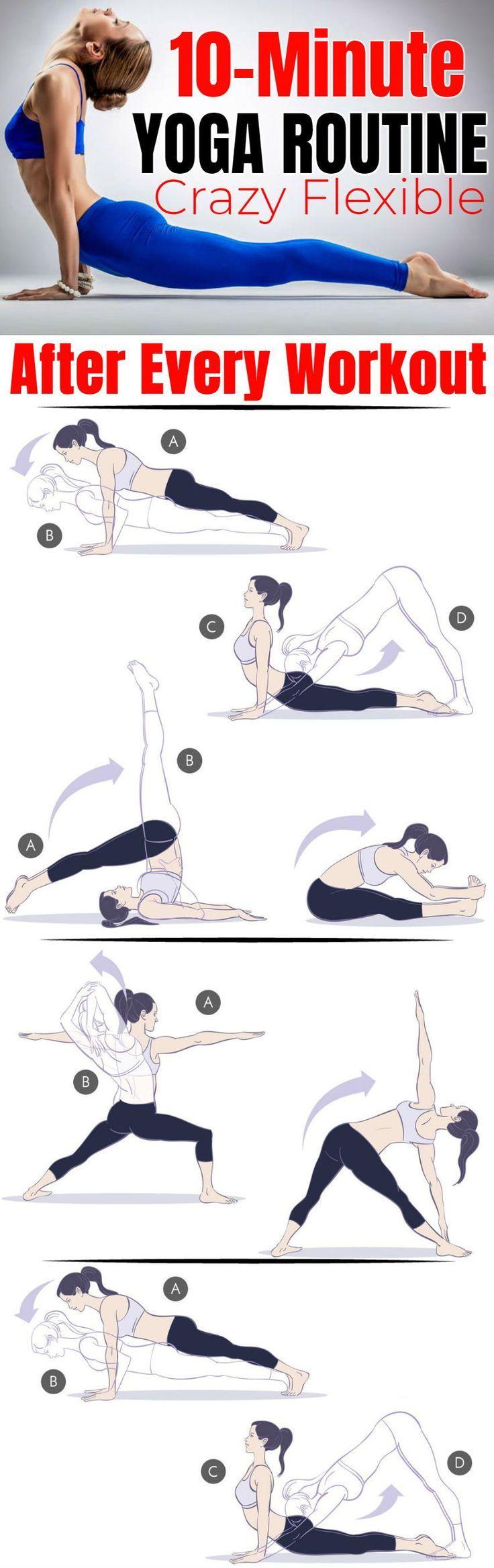 10-minütige Yoga-Routine nach jedem Training, um verrückt und flexibel zu werden
