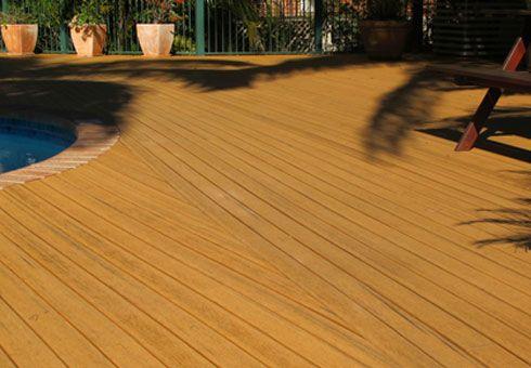 Modwood Composite Decking samples. Sahara. (03) 9465 9875 www.greenhilltimbers.com.au