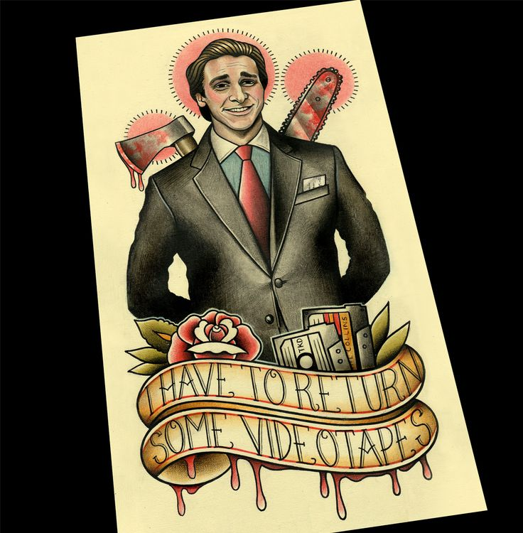 New American Psycho prints.. 2 versions to choose from :)
