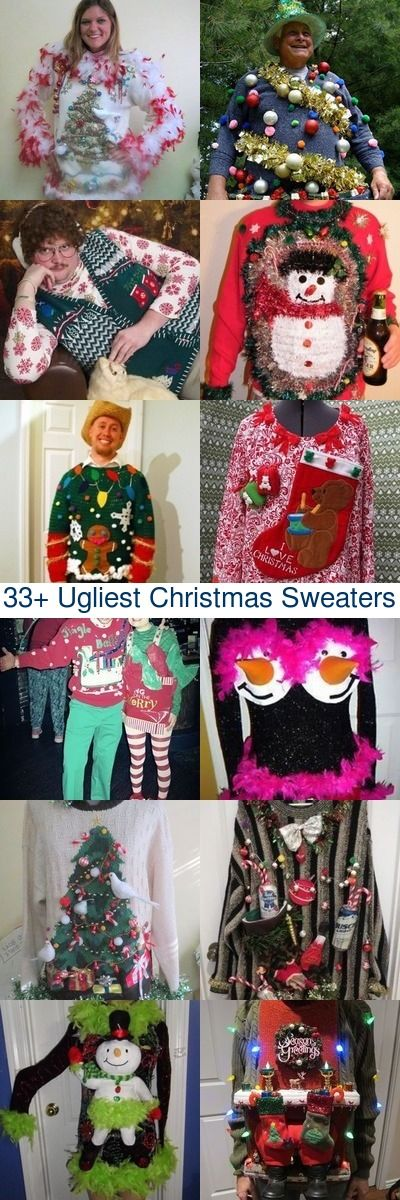 Just when you thought you've seen the ugliest Christmas sweaters around these people took ugly to the next level. Please feel free to share your comments, cuz some of these really need commenting...