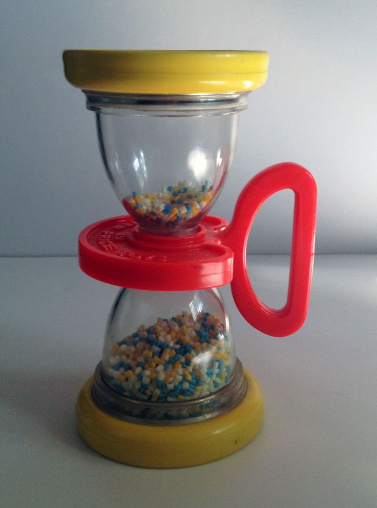 Vintage Fisher Price Hour Glass Rattle Shaker