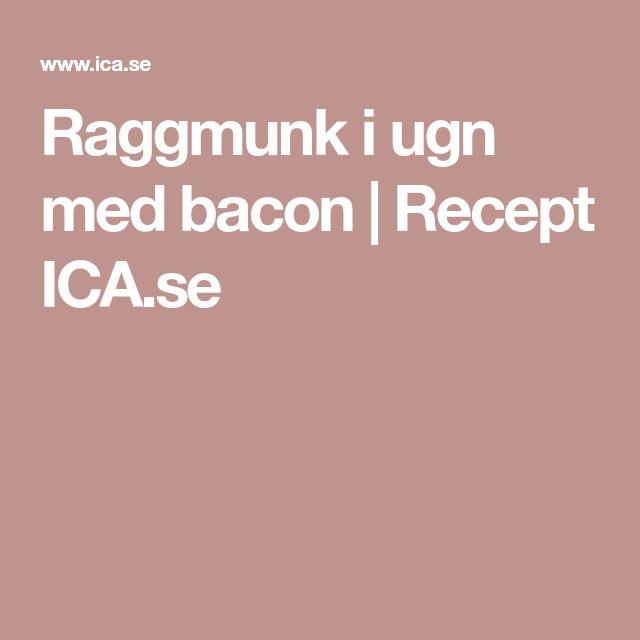 Raggmunk i ugn med bacon   Recept ICA.se