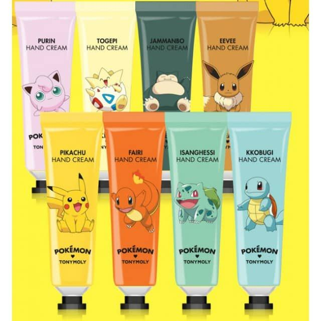 Buy Tony Moly Pokemon hand cream - 8 choices with W2beauty, your korean beauty shop and receive lots of samples and freebies with worldwide free shipping!