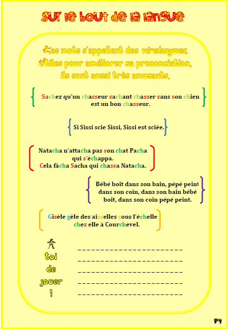 French tongue twisters for pronunciation practice