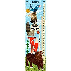 """Woodland Animals Stack by Brian Love - Personalized Growth Charts, 12""""x42"""""""