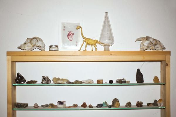 Shime is geologist so in the workshop of Little Wonder there is a collection of minerals