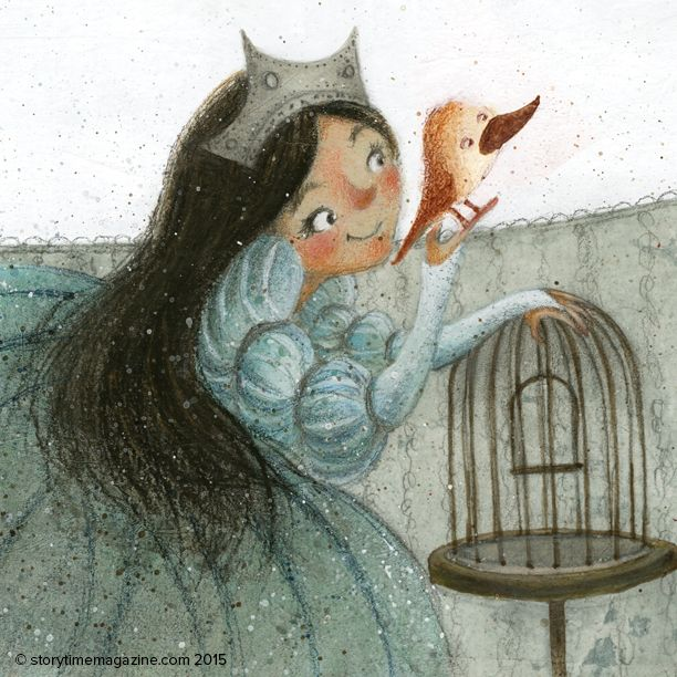 A lovely princess from The Language of Birds Russian tale, illustrated by Juana Martinez Neal (http://juanamartinezneal.com) ~ STORYTIMEMAGAZINE.COM
