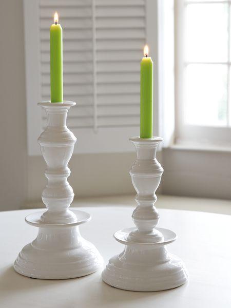 Stylish White Candle Holder - Nordic House
