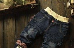Jeans Amalia cu ursulet aplicat pe picior