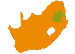 Krugerpark-zuid - Mpumalanga - Landkaart Zuid Afrika - Plaatsen || Op reis naar Zuid Afrika: Zuid Afrika reizen en accommodaties in Zuid Afrika!