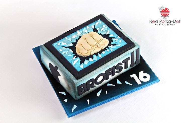 BroFist cake, by Red Polka-Dot Designs
