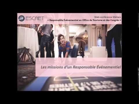Web-conférence ESCAET : Responsable événementiel en Office de Tourisme #Formation #métier #tourisme