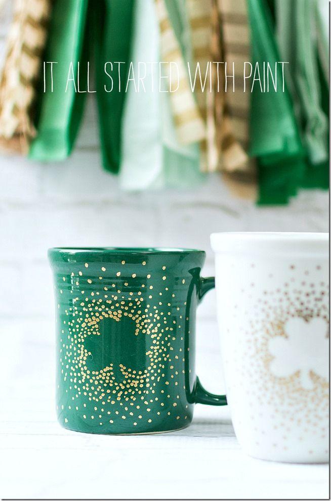 Irish coffee mugs irish coffee party favors and coffee mugs for Coffee crafts