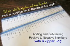 Adding and Subtracting Positive & Negative Numbers with a Zipper Bag | Relentlessly Fun, Deceptively Educational | Bloglovin'