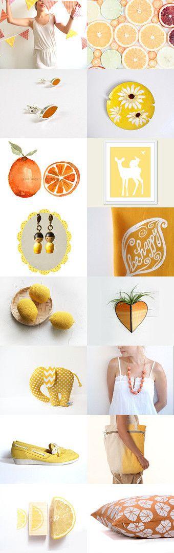 citrus summer by RosaMaría on Etsy--Pinned with TreasuryPin.com