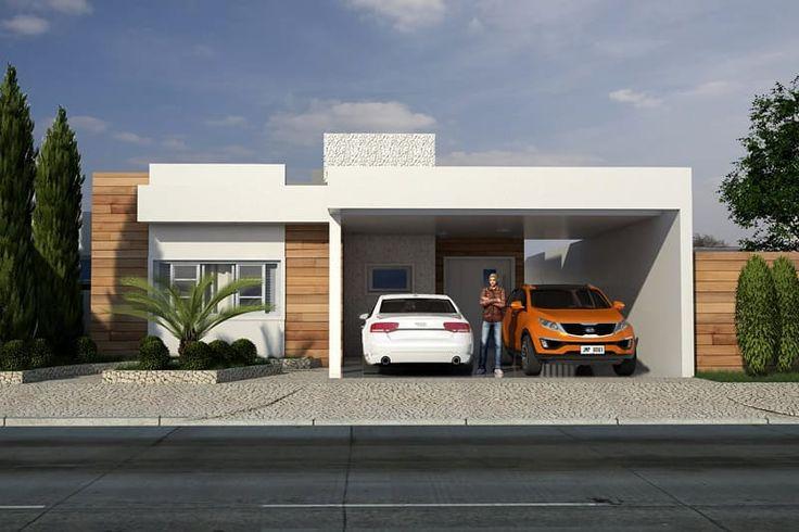 Essa é uma excelente casa para terrenos de 10x20 metros. Com garagem para 2 carros e 3 quartos (sendo duas suites) este projeto tem sala de tv, sala de jantar e cozinha integradas para o melhor aproveitamento dos espaços.