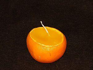 Свеча-мандаринка за 10 минут | Ярмарка Мастеров - ручная работа, handmade