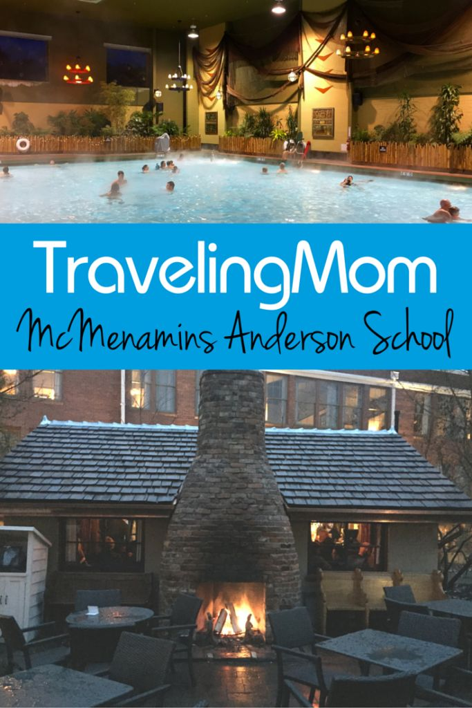 McMenamins Anderson School in Bothell, Washington features a 72 room hotel, three restaurants, three bars, a brewery, movie theater, and a massive pool north of Seattle - Traveling Mom
