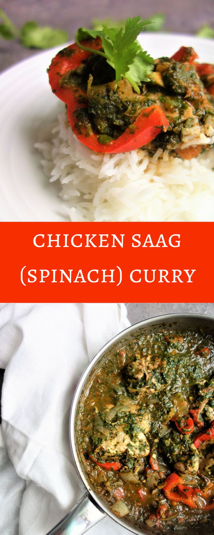 Easy to Make Chicken Saag Curry. chicken saag curry recipe, spinach curry recipe, chicken curry recipe, curry recipe easy, saag curry easy, saag curry vegan, spinach & chicken curry, easy indian recipes, healthy indian recipe, chicken saag curry healthy, healthy recipes