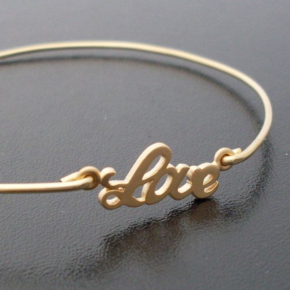 #love #braceletGift Ideas, 14K Gold, Bracelets Gold, Love Bracelets, Charms Bracelets, Bangles Bracelets, Bracelets 14K, Bangle Bracelets, Bridesmaid Gift