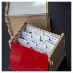 THE BOX - RIPE RECIPES a beautiful way to store & collect recipes. recipe cards. recipe box. storage.