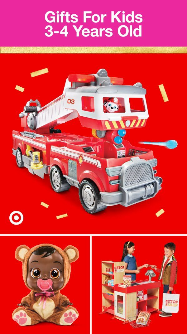 26ed321c073 Target's got fun gift ideas for all the kids from 3 to 4 years old on your  list this year.
